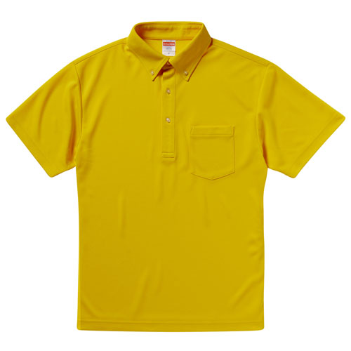 5921 ドライアスレチックポロシャツ  4.1oz(ボタンダウン/ポケット付)