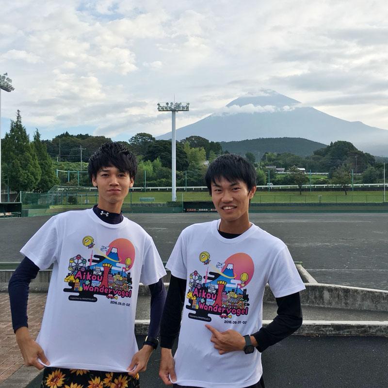 神戸大学のテニス愛好会「AIKOU」のお客様に作っていただいたTシャツです