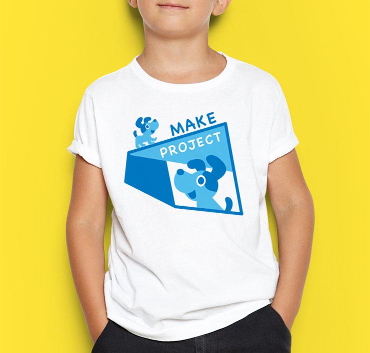 犬のイラストTシャツ